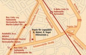 Lageplan Praxisgemeinschaft A Niebel und R. Vogel