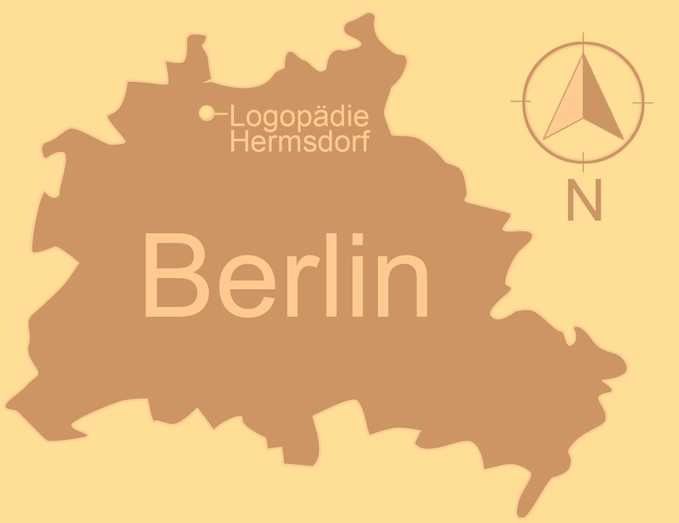 Logopädie Hermsdorf - im Norden Berlins. Grafik: Mary Cronos