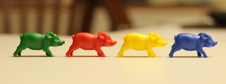 Bunte Schweine. Foto: Mary Cronos